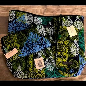 Vera Bradley Caribbean Sea Villager Set NWT